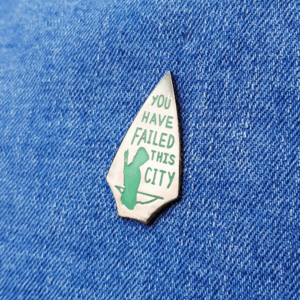 Arrow Oliver Queen Felicity Smoak John Diggle DC You Have Failed This City Pin